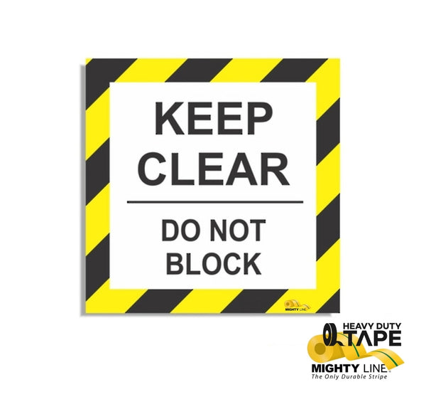 Keep Clear Do Not Block 24 Product