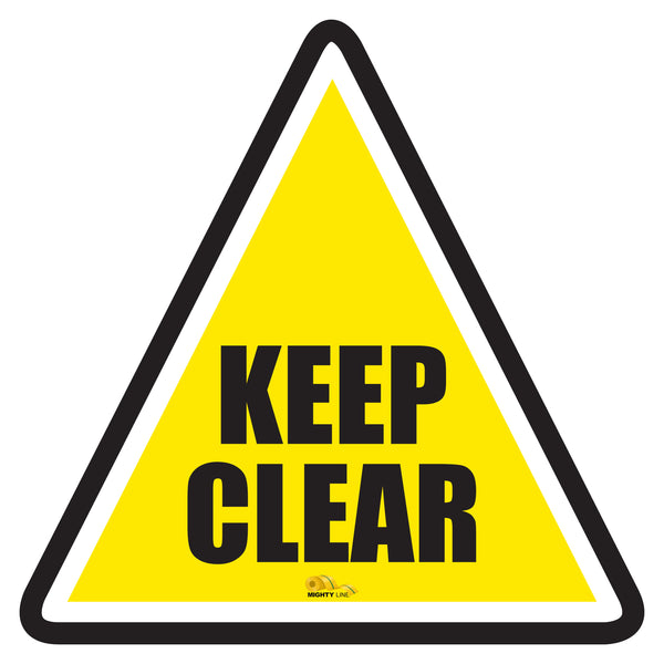 Keep Clear Triangle Floor Sign - Floor Marking Sign, 36""