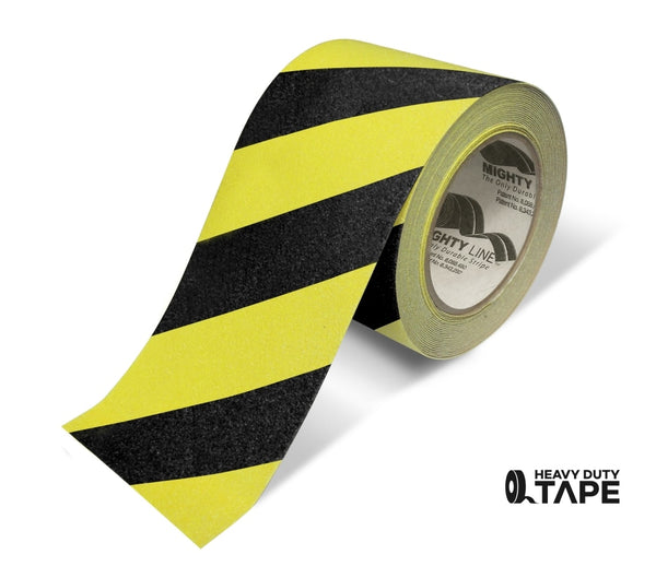 4 Yellow With Black Chevrons Anti-Slip Floor Tape - 60 Roll Product
