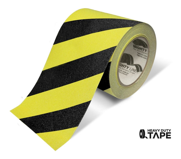 6 Yellow With Black Chevrons Anti-Slip Floor Tape - 60 Roll Product