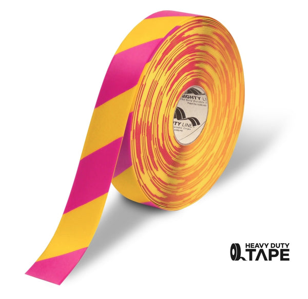 Mighty Line Diagonal Floor Tape 2 Inch White/magenta 100 Roll Product