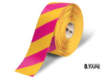 Mighty Line Diagonal Floor Tape 4 Inch Yellow/magenta 100 Roll Product