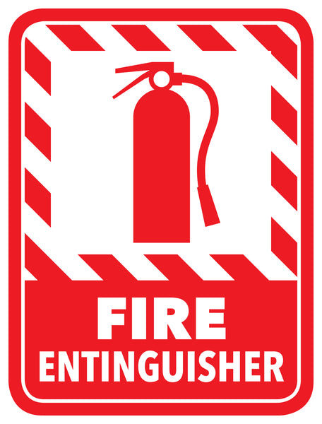 Fire Extinguisher Modern Floor Sign - Floor Marking Sign, 12""