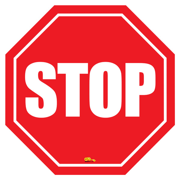 Stop Sign Modern Floor Sign - Floor Marking Sign, 12""