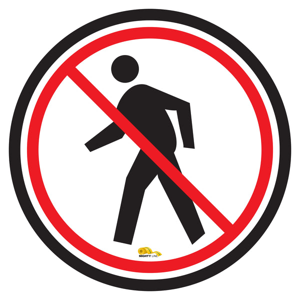 No Pedestrian Floor Sign - Floor Marking Sign, 24""
