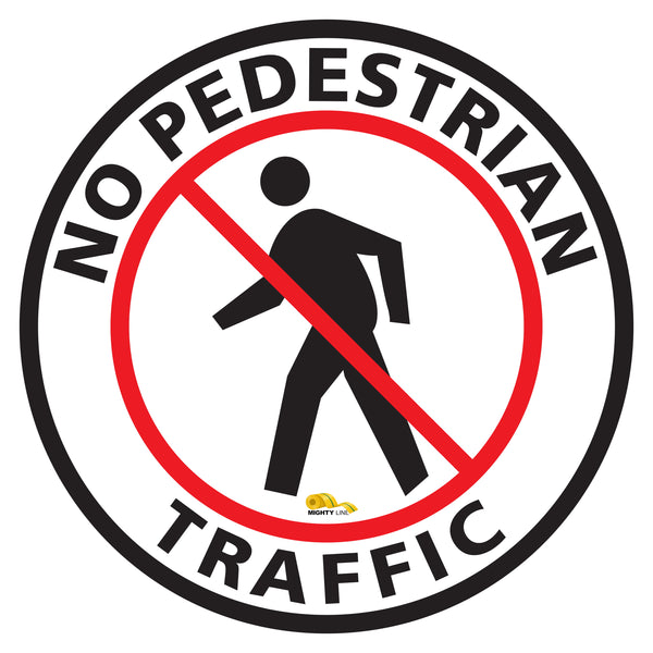 No Pedestrian Text Floor Sign - Floor Marking Sign, 16""