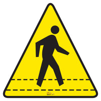 Pedestrian Walkway Floor Sign - Floor Marking Sign, 16""