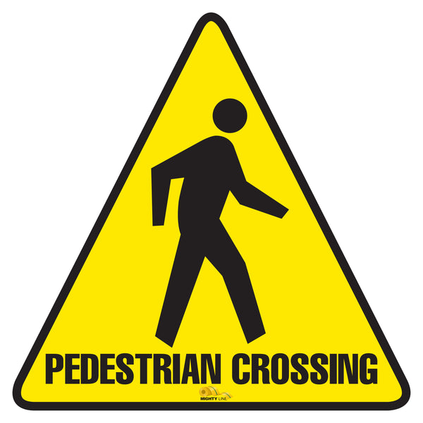 Pedestrian Crossing Floor Sign - Floor Marking Sign, 12""