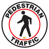 Pedestrian Traffic Floor Sign - Floor Marking Sign, 24""