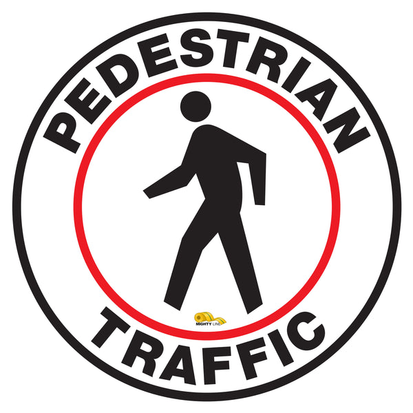 Pedestrian Traffic Floor Sign - Floor Marking Sign, 12""