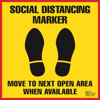 Virus Prevention - Social Distancing Marker Floor Sign
