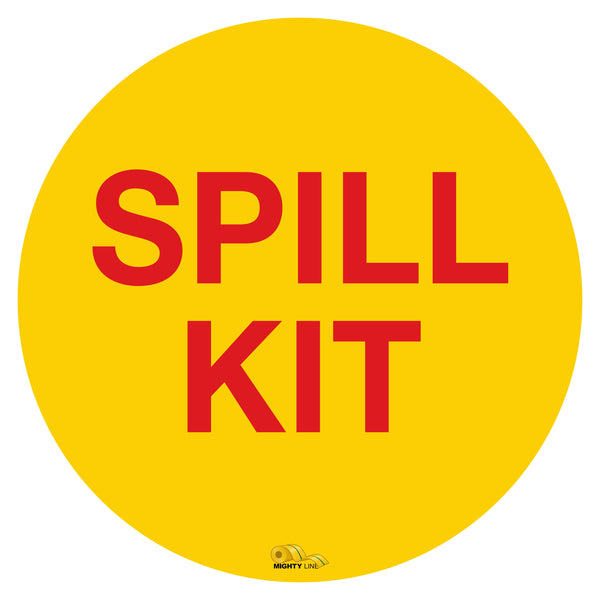 "Spill Kit, Mighty Line Floor Sign, Industrial Strength, 16"" Wide"
