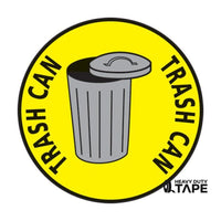 Trash Can Here Sign - FloorTapeOutlet.com