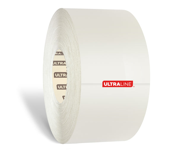 "White Ultra Durable 30 MIL Floor Tape, 4"" by 100' Roll - Ultra Line"