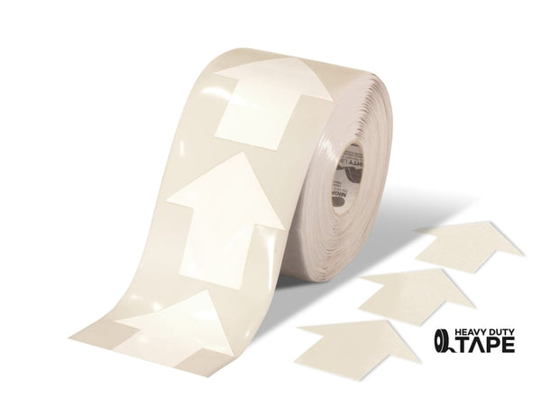 5.5 Wide Solid White Arrow Roll 200 Arrows Product