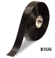 "2"" BLACK Solid Color Tape - 100' Roll - FloorTapeOutlet.com"