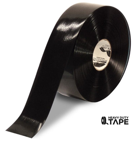 "3"" BLACK Solid Color Tape - 100'  Roll - FloorTapeOutlet.com"