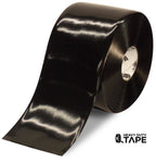 "6"" BLACK Solid Color Tape - 100' Roll - FloorTapeOutlet.com"