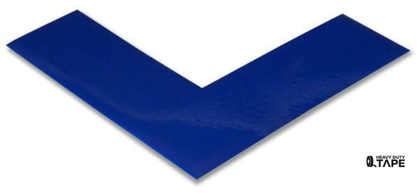 "2"" Wide Solid BLUE Angle - Pack of 25 - FloorTapeOutlet.com"