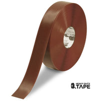"2"" BROWN Solid Color Tape - 100' Roll - FloorTapeOutlet.com"