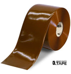 "6"" BROWN Solid Color Tape - 100' Roll - FloorTapeOutlet.com"