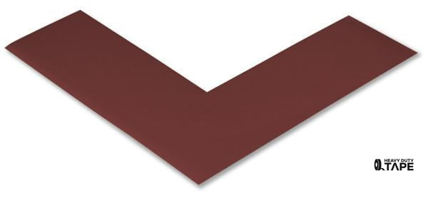 "2"" Wide Solid BROWN Angle - Pack of 25 - FloorTapeOutlet.com"