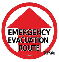 Emergency Evacuation Route Sign - FloorTapeOutlet.com