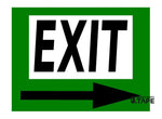 EXIT Sign with Arrow - FloorTapeOutlet.com