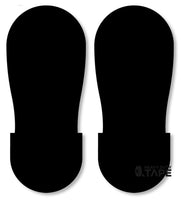 BLACK BIG Footprint - Pack of 50 - FloorTapeOutlet.com