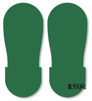 GREEN BIG Footprint - Pack of 50 - FloorTapeOutlet.com