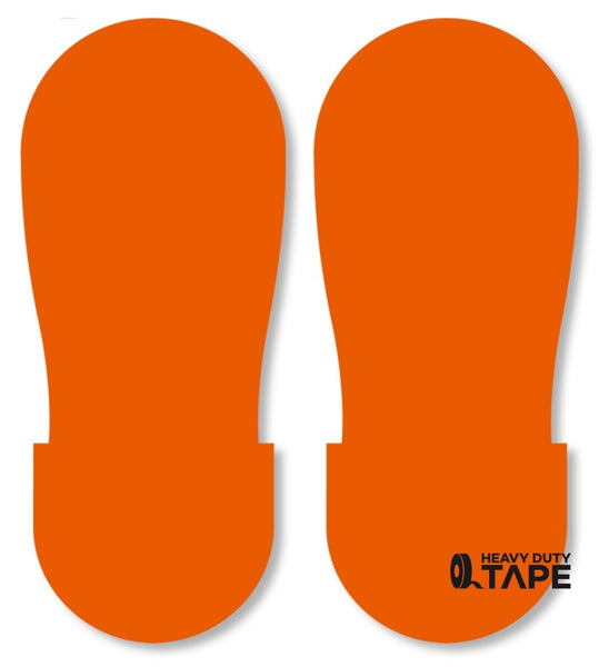 ORANGE BIG Footprint - Pack of 50 - FloorTapeOutlet.com