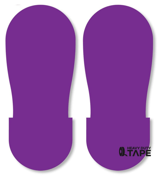 PURPLE BIG Footprint - Pack of 50 - FloorTapeOutlet.com