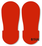 RED BIG Footprint - Pack of 50 - FloorTapeOutlet.com