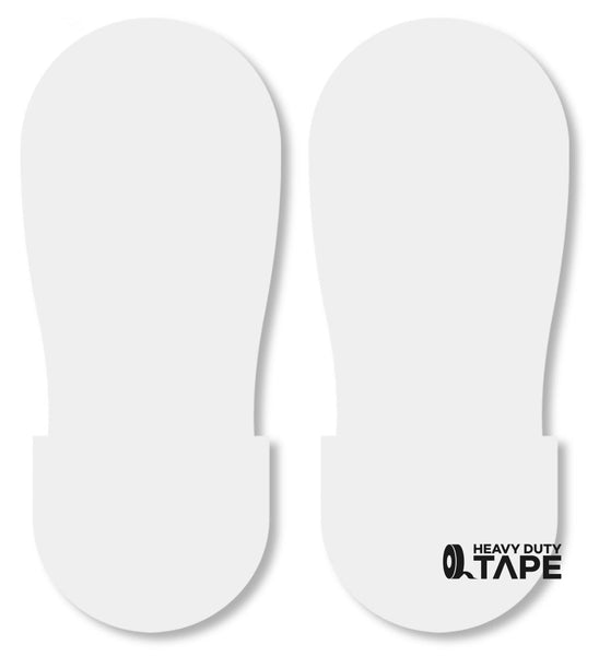 WHITE BIG Footprint - Pack of 50 - FloorTapeOutlet.com
