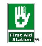 First Aid Station Sign (Green) - FloorTapeOutlet.com