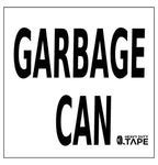 Garbage Can Location Sign - FloorTapeOutlet.com