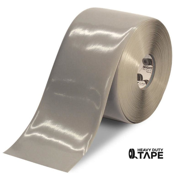 "6"" GRAY Solid Color Tape - 100' Roll - FloorTapeOutlet.com"