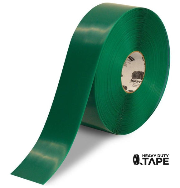 "3"" GREEN Solid Color Tape - 100'  Roll - FloorTapeOutlet.com"