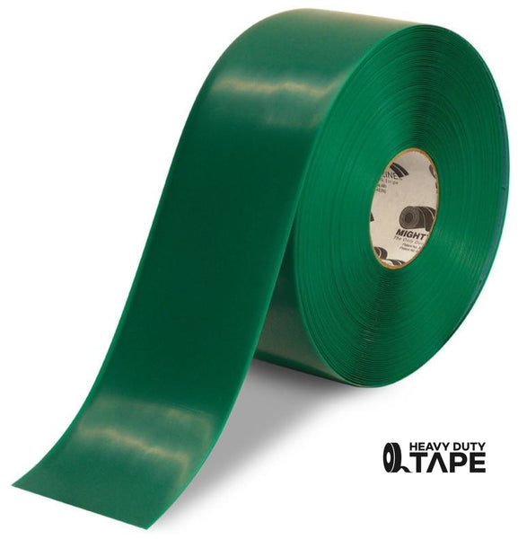 "4"" GREEN Solid Color Tape - 100' Roll - FloorTapeOutlet.com"