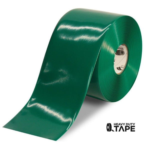 "6"" GREEN Solid Color Tape - 100'  Roll - FloorTapeOutlet.com"