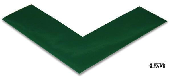 "2"" Wide Solid GREEN Angle - Pack of 25 - FloorTapeOutlet.com"