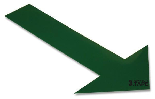 Solid GREEN Arrow - Pack of 50 - FloorTapeOutlet.com