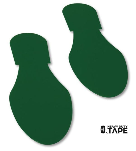 Solid Colored GREEN Footprint - Pack of 50 - FloorTapeOutlet.com