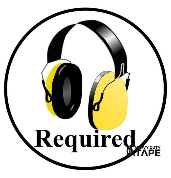Hearing Protection Required Sign (Visual) - FloorTapeOutlet.com