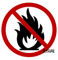No Fires Permitted Sign - FloorTapeOutlet.com
