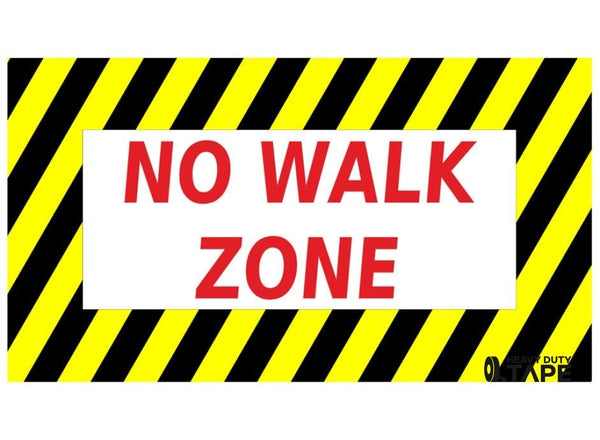 No Walk Zone Sign - FloorTapeOutlet.com
