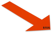 Solid ORANGE Arrow - Pack of 50 - FloorTapeOutlet.com