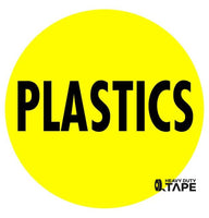 PLASTICS Sign - FloorTapeOutlet.com
