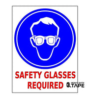 Safety Glasses Required Sign - FloorTapeOutlet.com