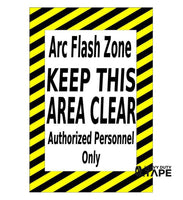 ARC Flash Zone Caution Sign - FloorTapeOutlet.com